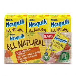 Batido all natural fresa nesquik p-3 180ml