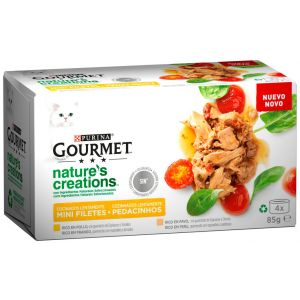 Comida gato nature carne gourmet p4x 85gr