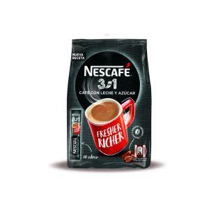 Cafe soluble 3 en 1 nescafe  bolsa 10 x 17gr