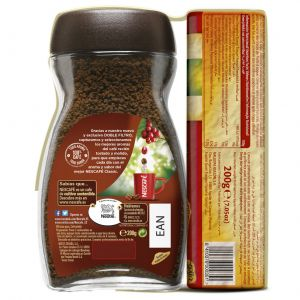 Cafe soluble natural nescafe 200 gr