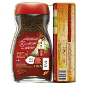 Cafe soluble descafeinado nescafe 200 gr
