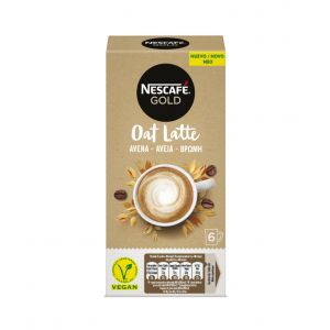 Café latte avena nescafe gold 6x 16g