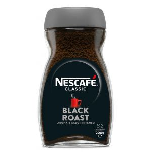 Cafe soluble black roast nescafe 200 gr