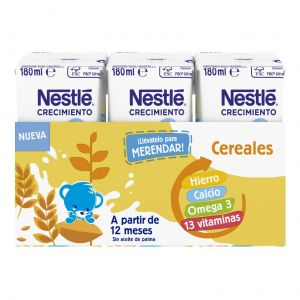 Leche crecimiento junior+1 cereal nestle p3x180ml