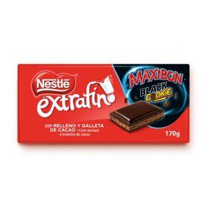 Chocolate maxibon black cookie nestle 170gr
