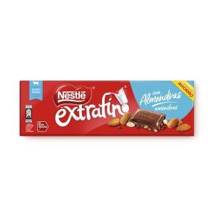 Chocolate con leche y almendras nestle  270g
