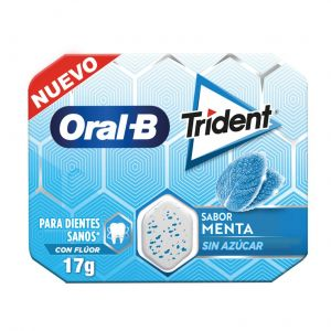 Chicle oral b menta trident 17gr