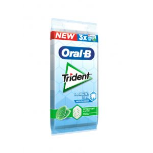 Chicle oralb hierbabue trident p3x17gr