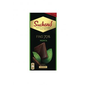 Chocolate negro 70% menta suchard 100g