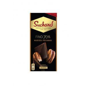 Chocolate negro 70% nueces pecanas suchard 100g