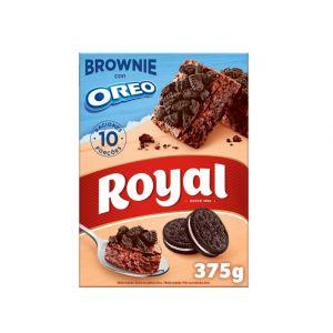 Preparado para hacer brownie con oreo royal 375g