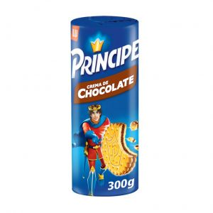 Galleta principe rellena chocolate lu 300g
