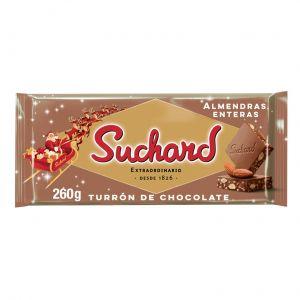 Turron de chocolate con almendras suchard 260g