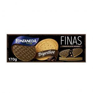 Galleta digestiva finas chocolate negro fontaneda 170gr