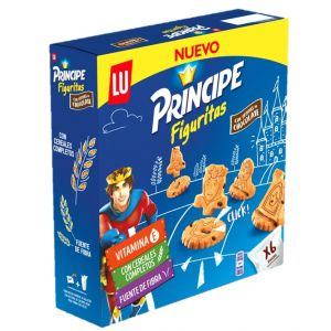 Galleta figuritas chip chocolate  principe 147gr