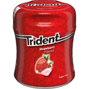 Chicles sin azucar fresa trident bote 82,6g
