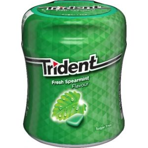 Chicles sin azucar hierbabuena trident bote 82,6g