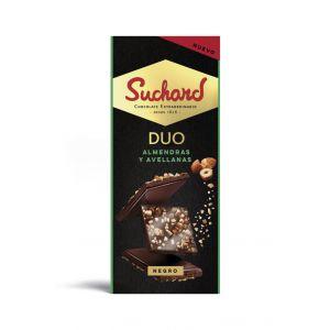 Chocolate negro almendras/avellanas suchard  103g