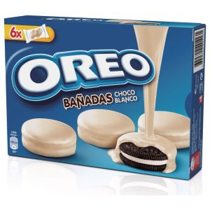 Galleta bañada chocolate blanco oreo 246g