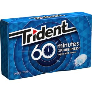 Chicles sin azucar 60min menta trident  10 ud