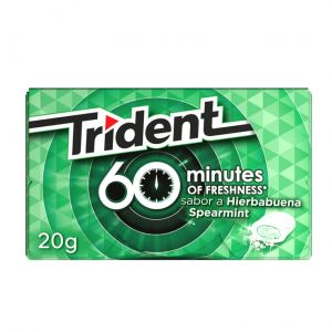 Chicles sin azucar 60min hierbabuena trident  10 ud