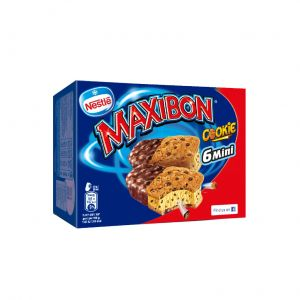 Helado maxibon mini cookie nestle p6x88ml