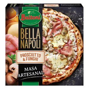 Pizza prosciutto e funghi bella napoli buitoni 415g