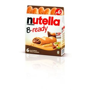 Barritas b-reday  nutella  t6 132g