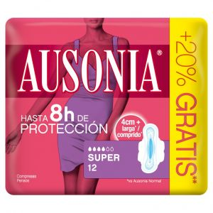 Compresa alas super air dry ausonia 12ud