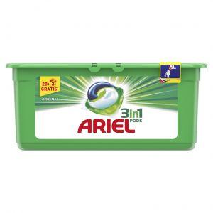 Detergente cápsulas regular ariel 27+3 dosis