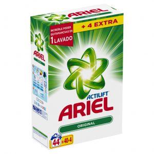 Detergente polvo  ariel 44 dosis 3,25 kilos