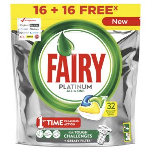 Lavavajillas máquina pastilla fairy platinum 16+16 dosis