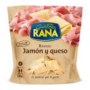 pasta fresca rellena de jamón y queso rana 250g