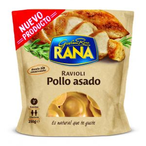 ravioli de pollo asado rana 250g