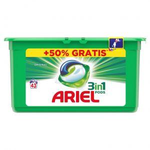 Detergente cap 3 en 1 ariel 26+13ds