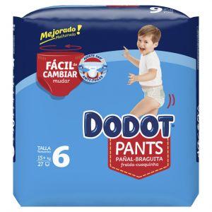 Pañal t6 6-6 +15kg dodot pants 27 ud