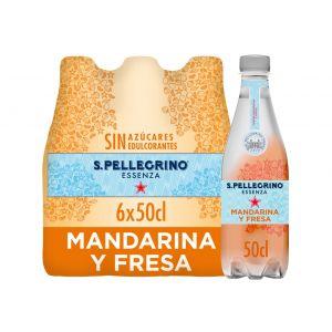 Agua mineral c/gas mandarina san pellegrino pet 50cl