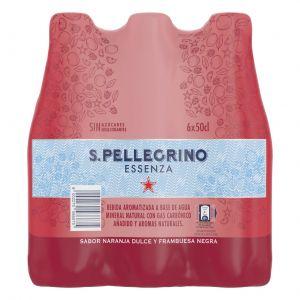 Agua mineralcon gas naranja san pellegrino pet 50cl