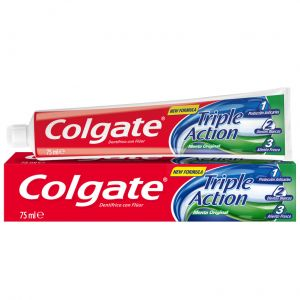 Pasta dentífrica triple action menta original colgate 75 ml