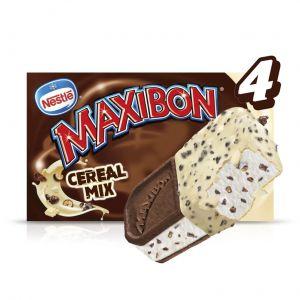 Helado sadwich cereal maxibon pack-4x 140ml