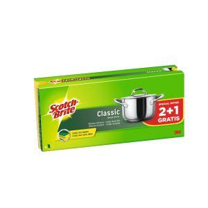 Estropajo fibra verde salvauñas scoth brite 2+1 ud