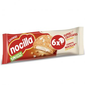 Galleta cookies rellena chocolate blanco nocilla 120g