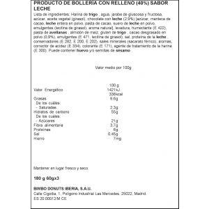 Bollito  relleno de cacao con leche bollycao  p3ux60g