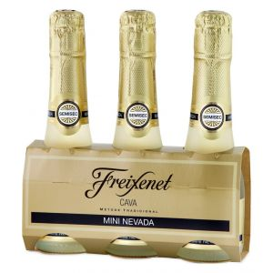 Cava freixenet carta nevada pack de 3 botellas benjamin de 20cl