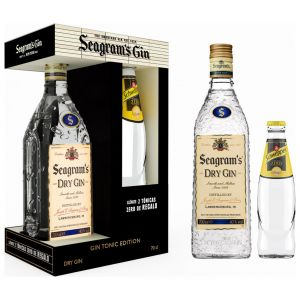 Ginebra seagrams 70 cl + 2 tonicas 25cl on pack