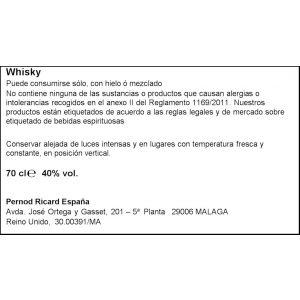 Whisky 12 años chivas regal botella de 70cl