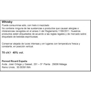 Whisky 12 años chivas regal botella de 70cl