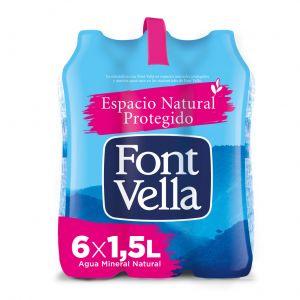 Agua mineral  font-vella  pet 1,5l
