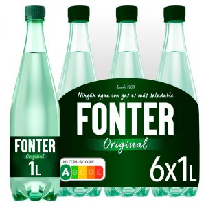 Agua mineral c/gas  fonter pet 1l