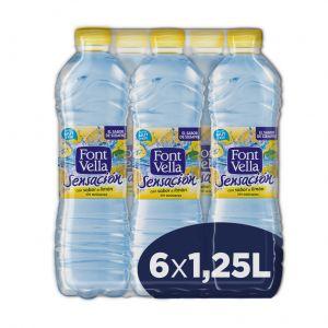 Agua mineral sensación limon font-vella  pet 1,25l